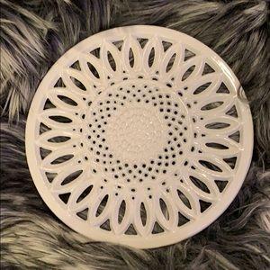 White Ceramic Trivet
